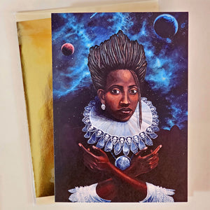 'DAUGHTER OF GODS AND SHADOWS' S. Ross Browne Greeting Card: 5x7 Frame Ready