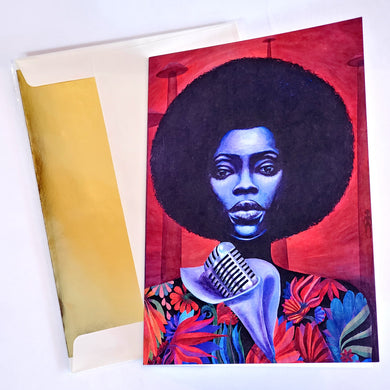 'QUINTESSENTIAL FUNK LP' S. Ross Browne Greeting Card: 5x7 Frame Ready