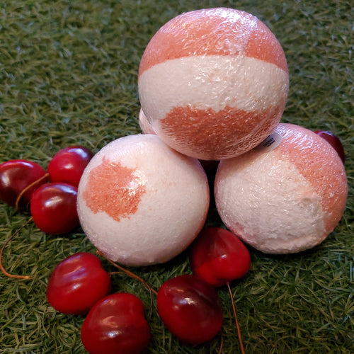 Bath Bomb/Foot Soak - Juicy Cherry Almond