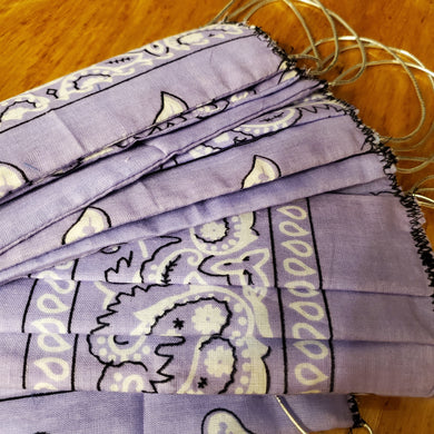Bandana Face Mask (Reusable, Reversible & Washable) Various Styles
