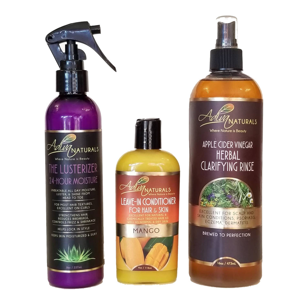 Locs Care Kit Deluxe ACV (5 Flavors)