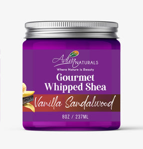 Gourmet Whipped Shea - Vanilla Sandalwood 8oz | Body Butter