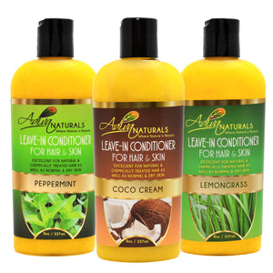 Leave-in Hair & Skin Conditioner 8oz Mix (3 pack)