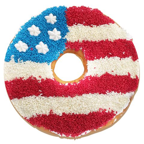 McDaffa's Seasonal Flag Donut Cake