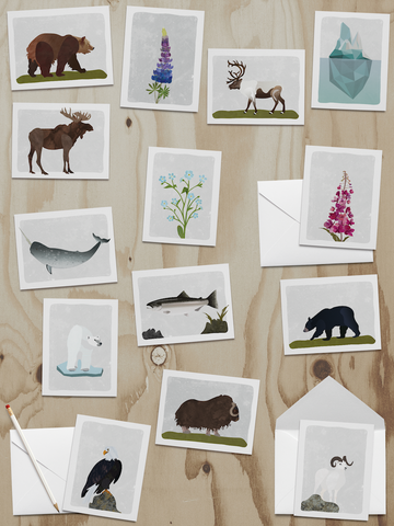 Alaska Wildlife Series Note Cards (A2s) BULK DISCOUNT ASSORTED