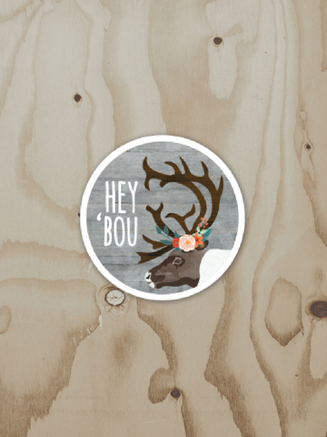Hey 'Bou - Vinyl Sticker