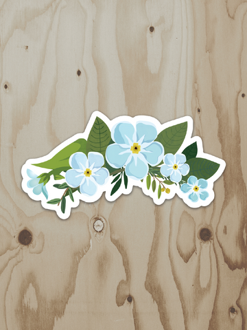 Forget-Me-Not Bunch - Vinyl Sticker