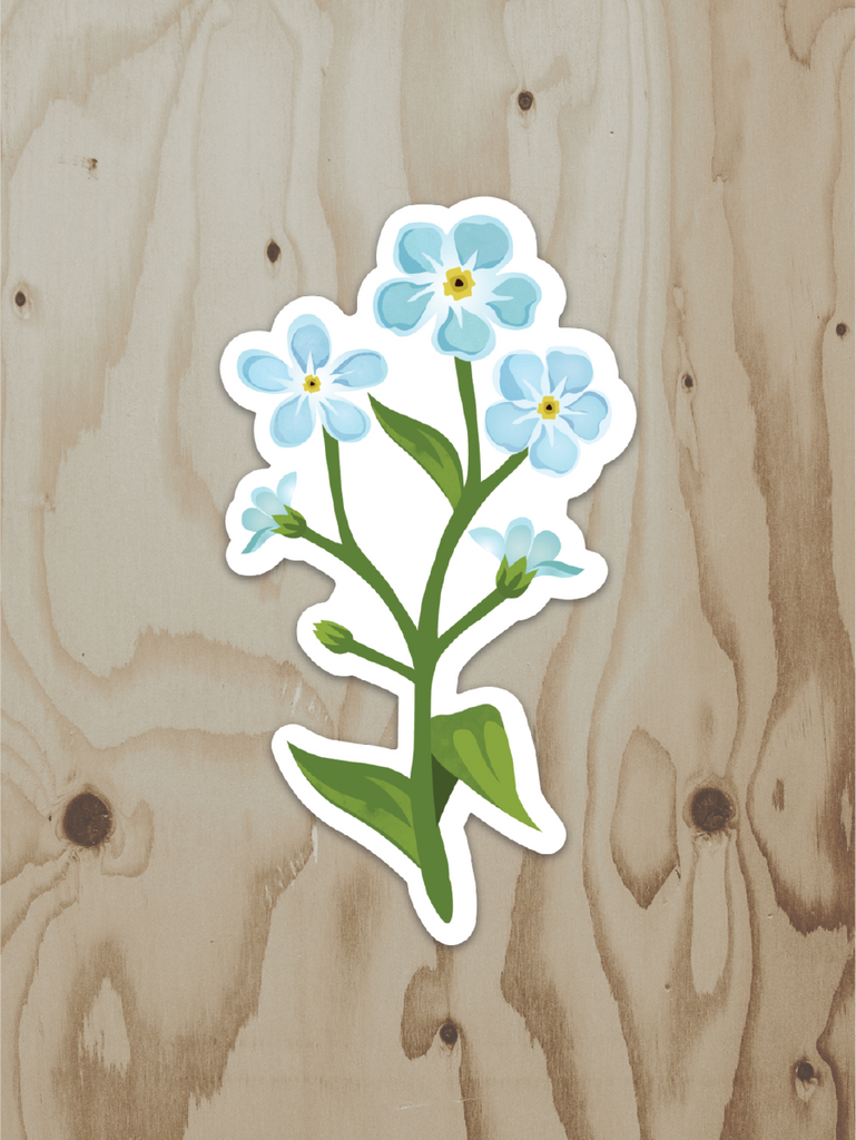 Forget-Me-Not Bouquet - Vinyl Sticker