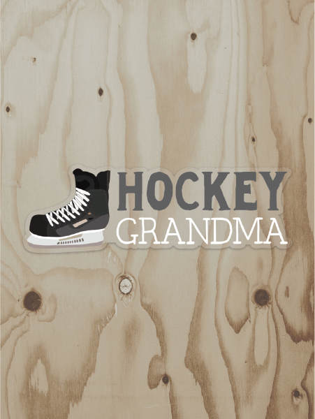 Hockey Grandma Vinyl Sticker