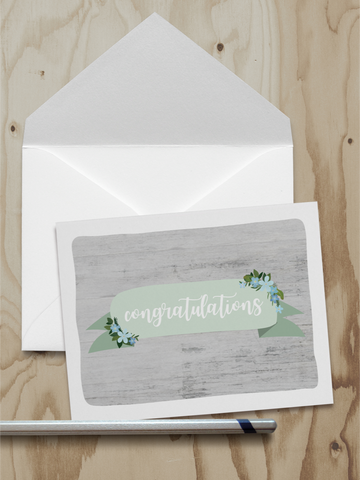 Congratulations Note Card (A2)
