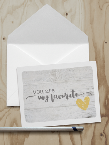 You're My Favorite Note Card (A2)