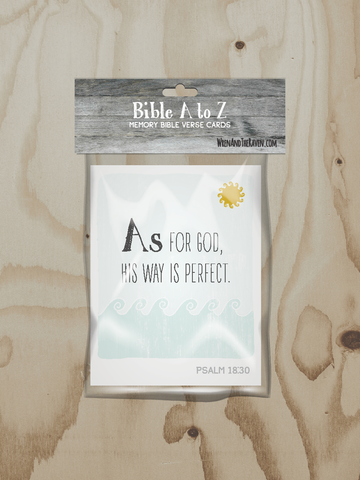 Bible A to Z - Alphabet Scripture Cards