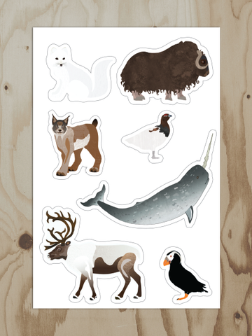 Alaska Arctic Animals - Vinyl Sticker Sheet