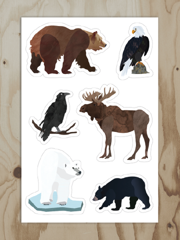 Alaskan Animals - Vinyl Sticker Sheet