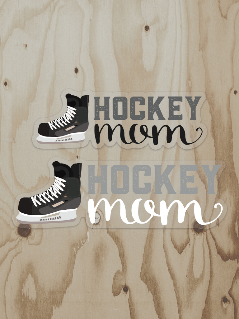 Hockey Mom Vinyl Stickers