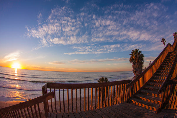 Sunset at the San Elijo Stairs