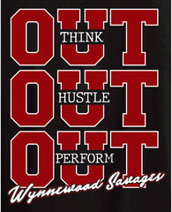 "Wynnewood Athletic Boosters ""OUT HUSTLE"" Shirts"