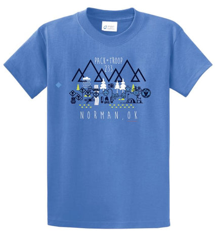 Troop 233 S/S T-shirt (blue)