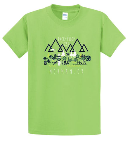 Troop 233 S/S T-shirt (lime)