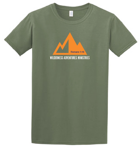 Wilderness Adventures Short Sleeve Military Green T-Shirt