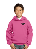 "Girl Scouts Troop 798 ""Goes Places"" Design Pullover Hooded Sweatshirt (Pink)"