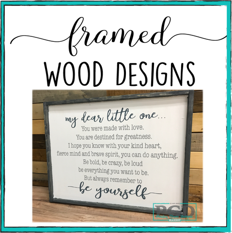 Framed Workshop Designs