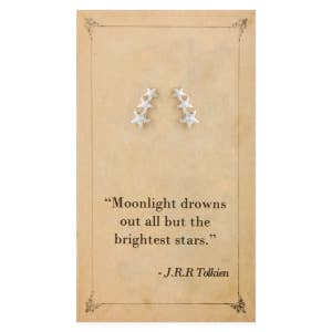 Literary Quotes Stars Post Earrings