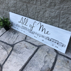 All of Me: SHEET MUSIC DESIGN - Paisley Grace Designs