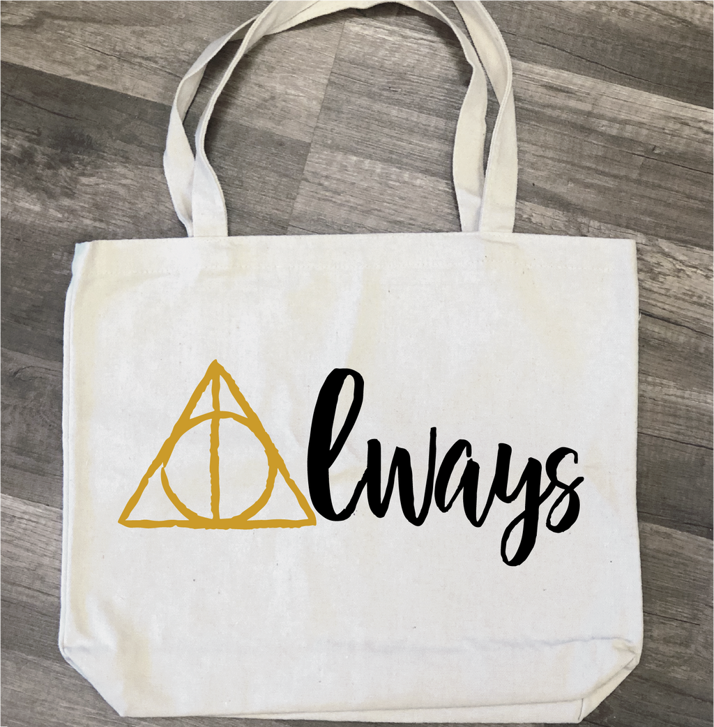 Always Deathly Hallows: Canvas Bag/Pillow Design - Paisley Grace Designs