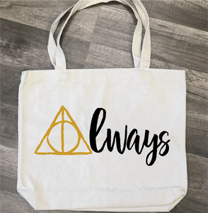 Always Deathly Hallows: Canvas Bag Design - Paisley Grace Designs