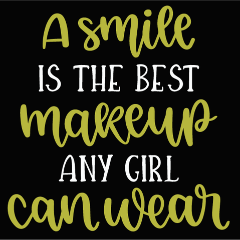 A smile is the best makeup a girl can wear: MINI DESIGN