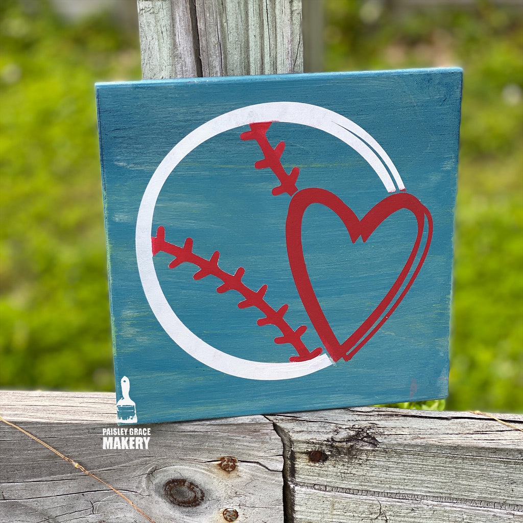 Baseball with Heart: MINI DESIGN - Paisley Grace Designs