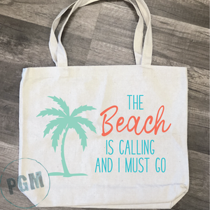The Beach is Calling and I Must Go: Canvas Bag Design
