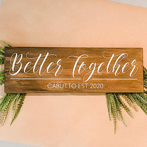 Better Together Personalized: Plank Design