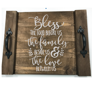 BLESS THE FOOD: FARMHOUSE TRAY DESIGN - Paisley Grace Designs