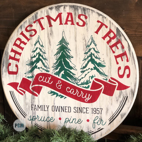 Christmas Trees Cut & Carry: ROUND DESIGN