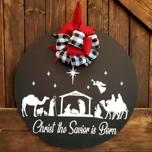 Christ the Savior is Born:CIRCLE DOOR HANGER DESIGN