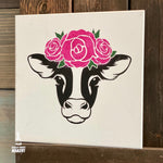 Cow with Flowers: MINI DESIGN