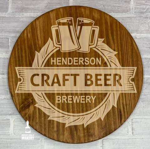 Craft Brew Personalized: ROUND DESIGN - Paisley Grace Designs