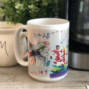 YOUR CUSTOM Photo or Image: 15 oz Printed Coffee Mug
