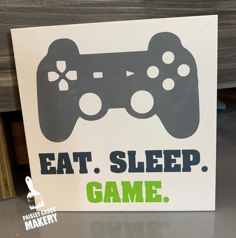 EAT. SLEEP. GAME.: MINI DESIGN - Paisley Grace Designs