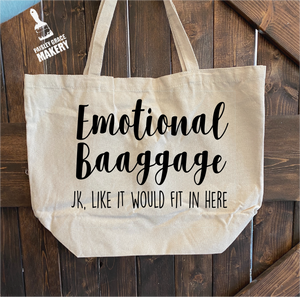 Emotional Baggage: Canvas Bag/Pillow Design - Paisley Grace Designs