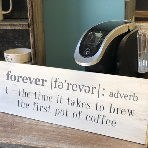 FOREVER Definition (coffee): PLANK DESIGN - Paisley Grace Designs