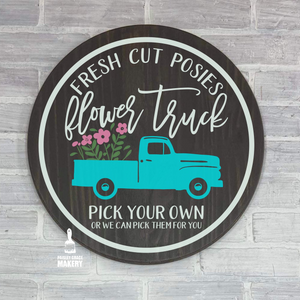 Fresh Cut Posies Truck: ROUND DESIGN - Paisley Grace Designs