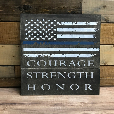 Courage Strength Honor (Police): Mini Pallet PYP Design Choice