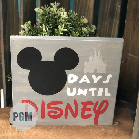 Days Until Disney:  MINI 8x8 Design - Paisley Grace Designs