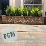 Gather Here with Grateful Hearts: WOOD BOX - Paisley Grace Designs