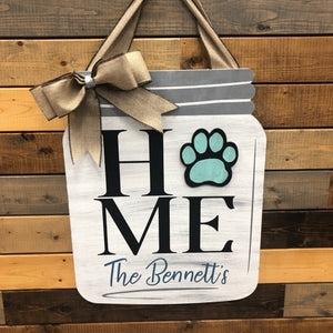 Home Personalized Mason Jar: INTERCHANGEABLE DESIGN - Paisley Grace Designs