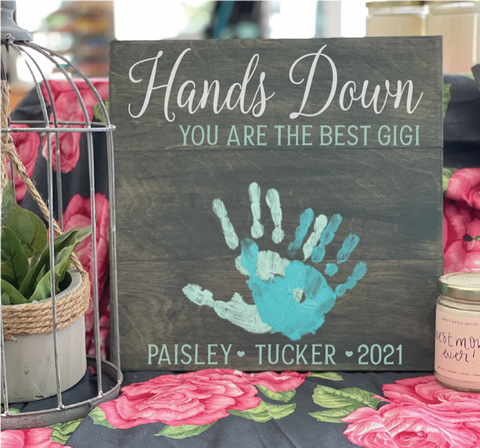 Hands Down your the Best-Personalized: SQUARE DESIGN
