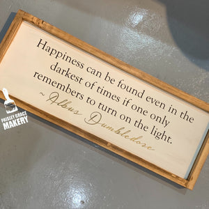 HAPPINESS CAN BE FOUND HP: PLANK DESIGN - Paisley Grace Designs